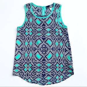 ⭐️Blue Rain Blue Sleeveless Top Small